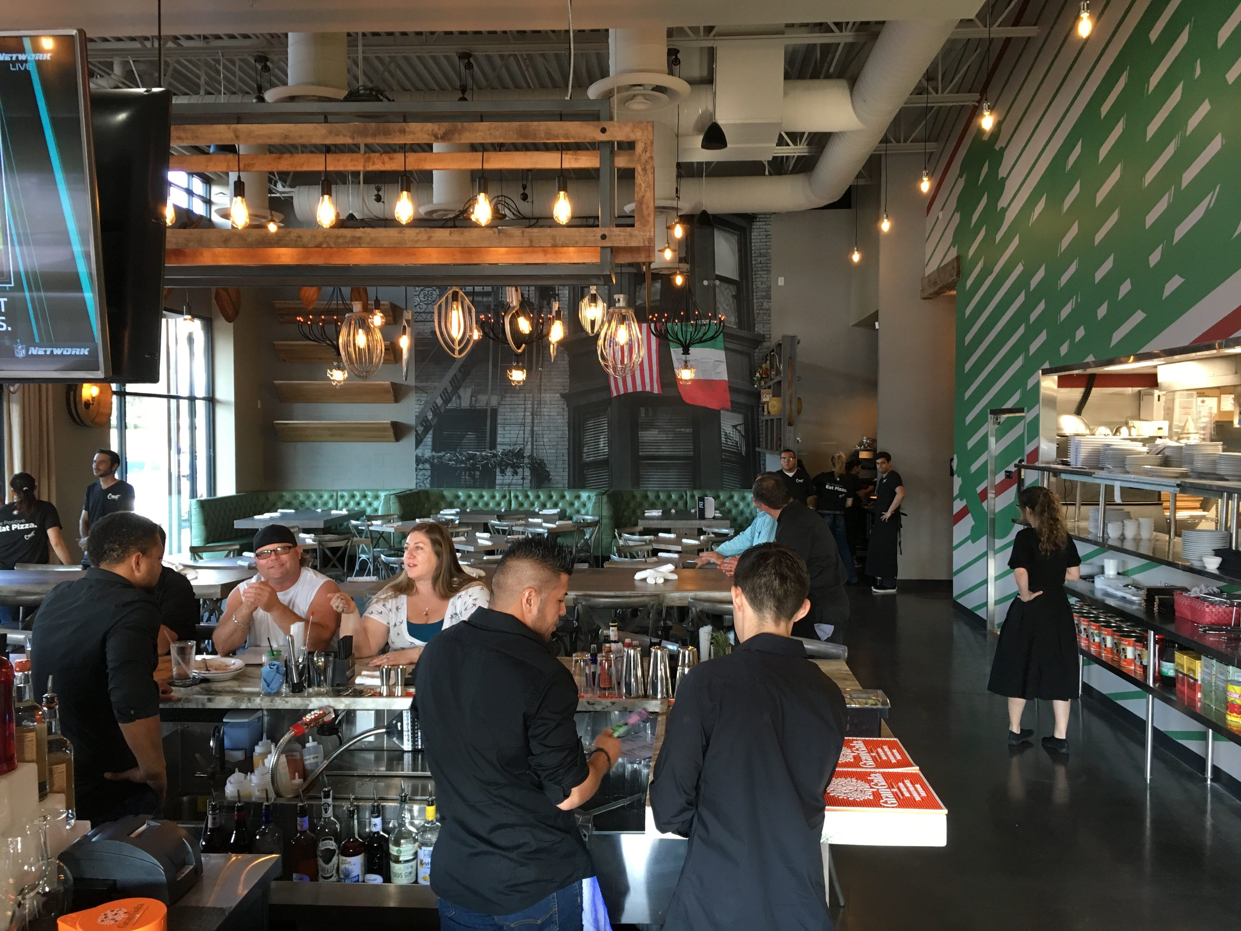 A look at the interior of Crust Pizzeria in Scottsdale.
