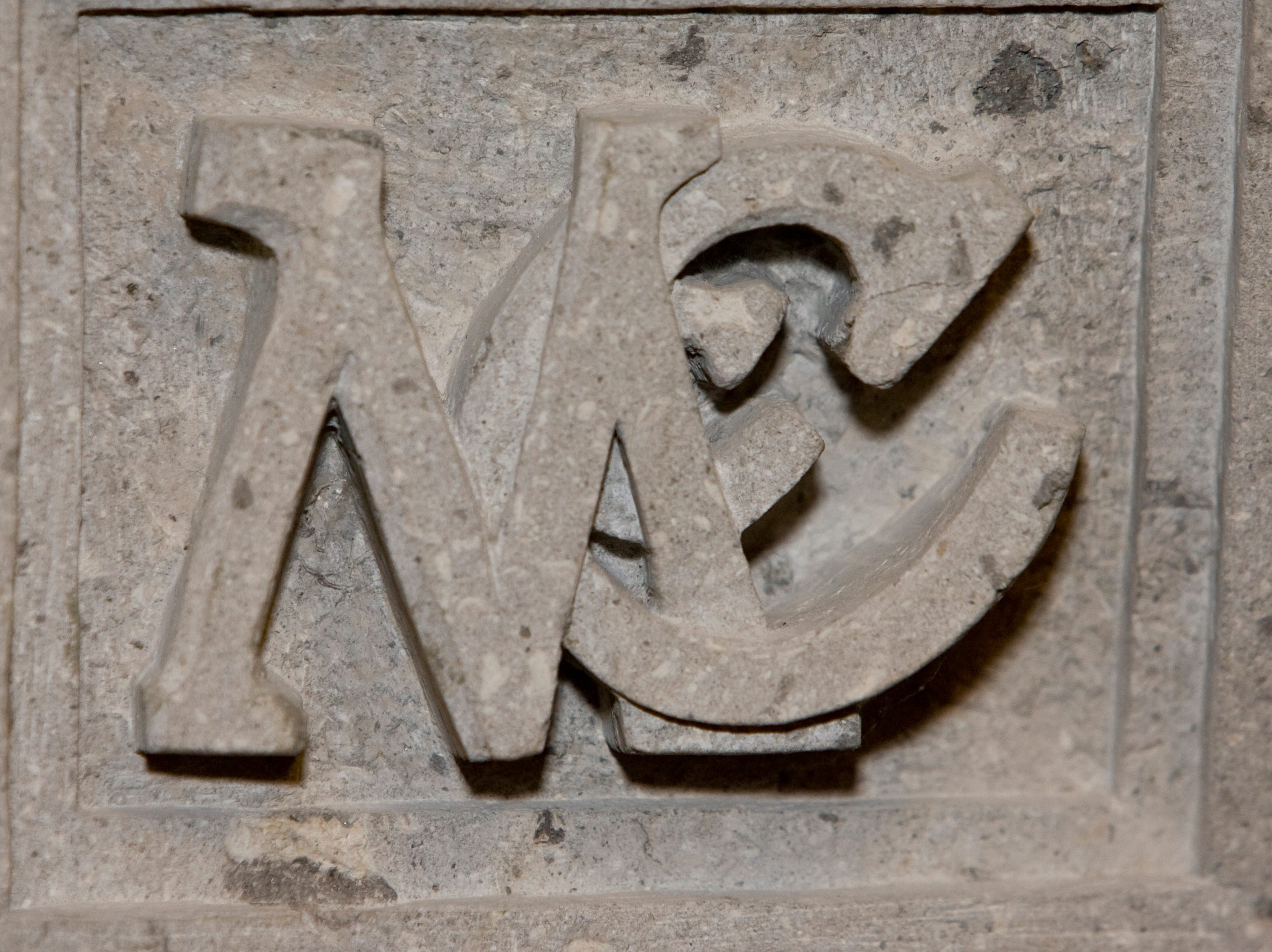 In the McCains' former Phoenix home, their initials are engraved in the master bedroom's stone fireplace, seen in 2008.