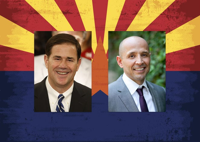 Republican Gov. Doug Ducey (left) and Democrat David Garcia are both running for governor in 2018.
