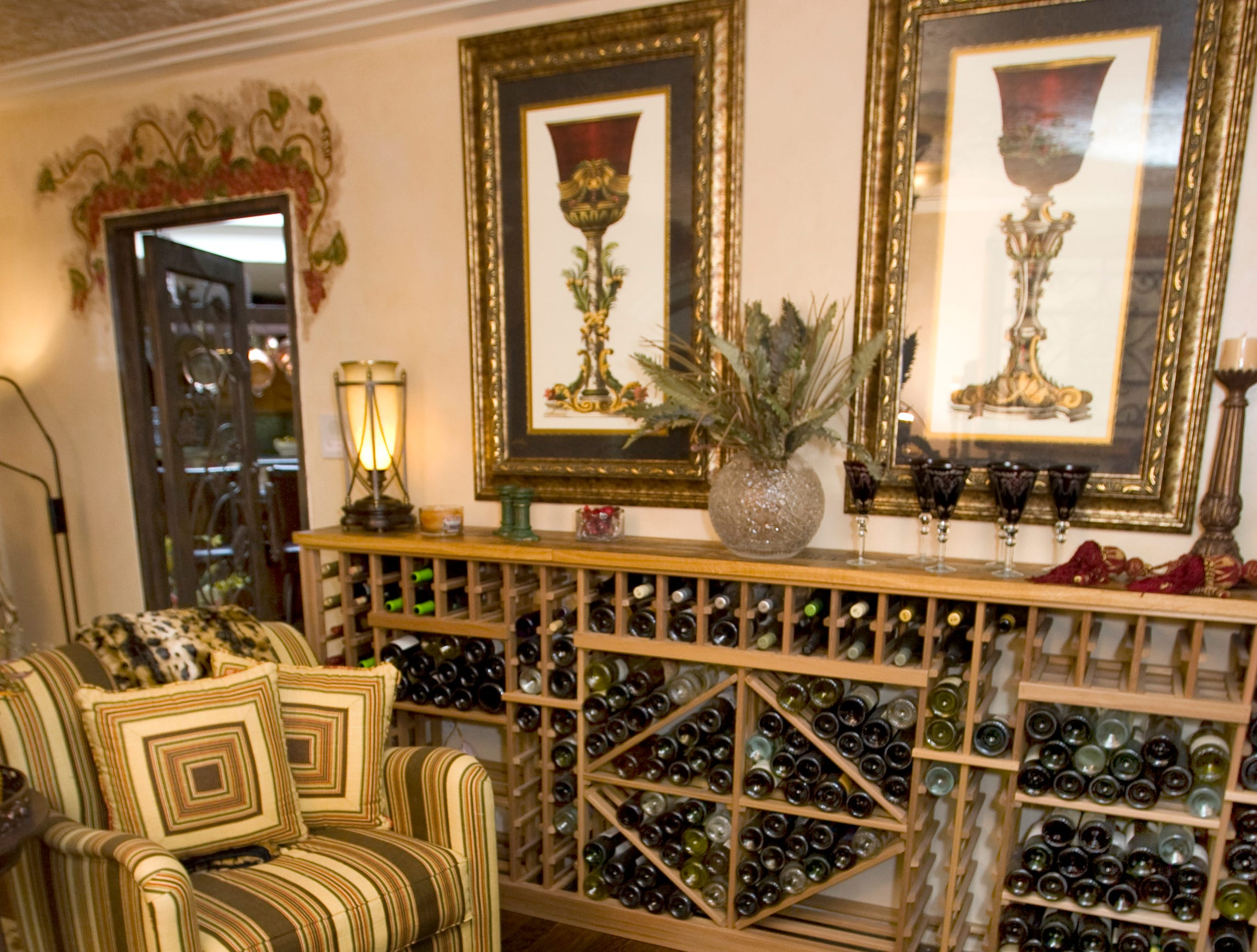 A wine-tasting room is seen in the former home of Sen. John and Cindy McCain in 2008.
