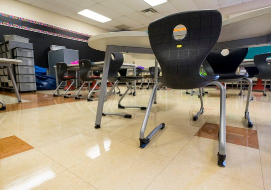 Literacy Academy at Cleveland received its flexible furniture a year ahead of planned renovations.