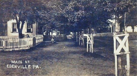 Edenville's Main Street, circa 1908.