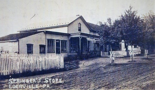 Levi Springer's General Store and Post Office in Edenville, circa 1908.