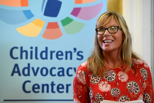 Coordinator Melissa Page speaks during the Safe and Healthy Communities Initiative at the York County Children's Advocacy Center, Wednesday, Aug. 29, 2018.  John A. Pavoncello photo