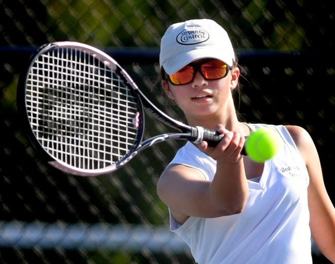 West York's Alisa Steele, seen here in a file photo, is the York-Adams League girls' tennis singles champion in Class 2-A.