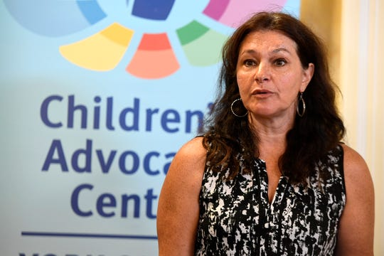 Jessica Castle, York YWCA community education director, speaks during the Safe and Healthy Communities Initiative at the York County Children's Advocacy Center, Wednesday, Aug. 29, 2018.  John A. Pavoncello photo