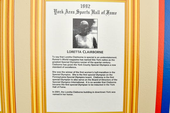 Loretta Claiborne is a member of the York County Sports Hall of Fame and is nationally known as a Special Olympia. Her life was profiled in a made-for-TV movie. But so far, no one has written a full biography on this York County resident.