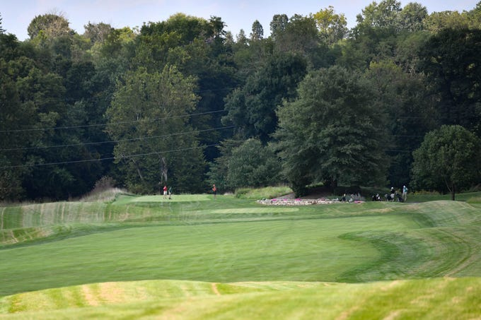 Six high schools competed in a YAIAA Division III golf match at Regents Glen Country Club, Tuesday, August 28, 2018.