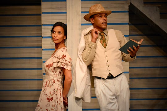 Mary Mendez Rizzo and Johnnie Simmons star in Anna in the Tropics. He reads Anna Karenina to Cuban immigrants at a cigar factory.