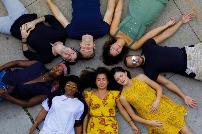 The cast of Geva's production of Hair, which kicks off the 46th season.