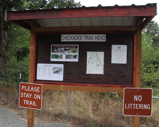 The Chickadee Trail Head signs at Turner Park were an Eagle Scout project by Seth Powell.