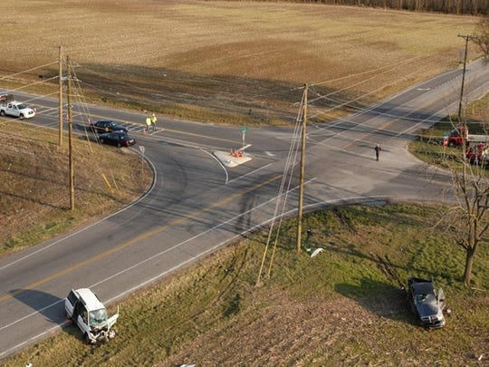This photo from the scene of a 2016 fatal at the intersections of Gravel Hill and Sand Hill roads in Milton. The fatal crash involved the use of a cellphone.