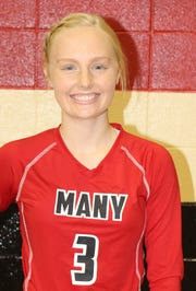 Many's Maria Steinke is among the top returning area volleyball players