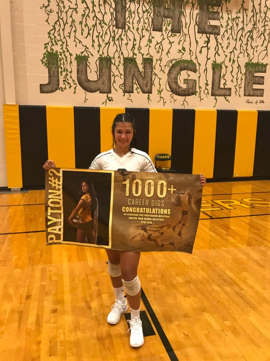 Groton Area senior Payton Maine collected her 1,000th career dig Saturday  at the Milbank Tournament.