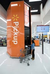 A Walmart Pickup tower is pictured in this released image from Walmart.