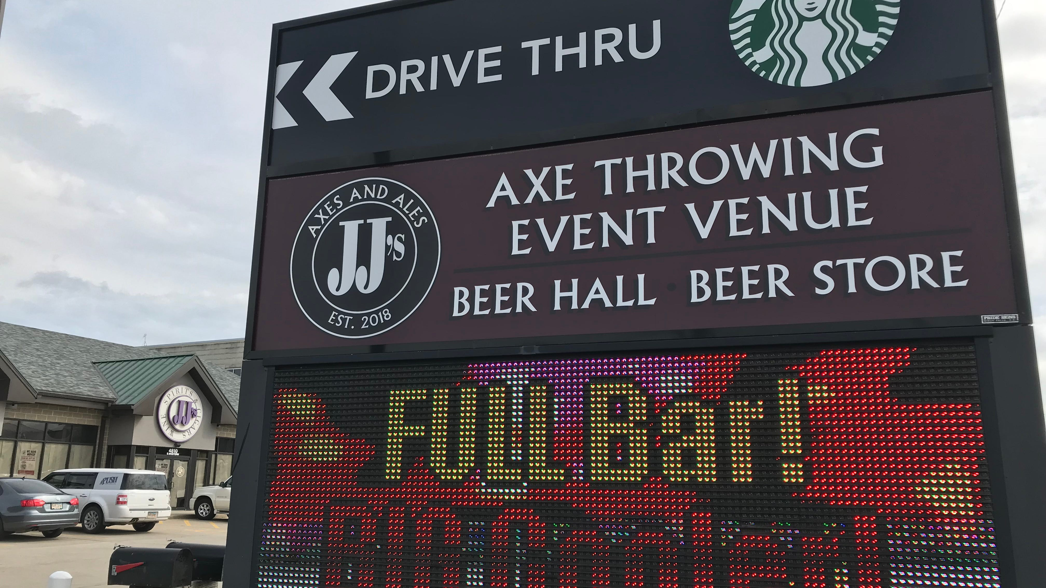 Axe-throwing beer hall in southern Sioux Falls sets opening date