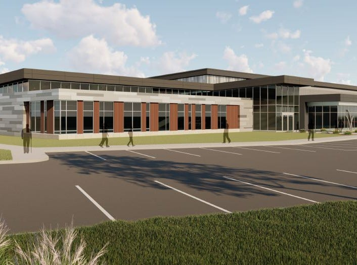 The $14 million, 60,000-square foot Avera Human Performance Center planned for the Avera on Louise campus at the corner of 69th and Louise in Sioux Falls.