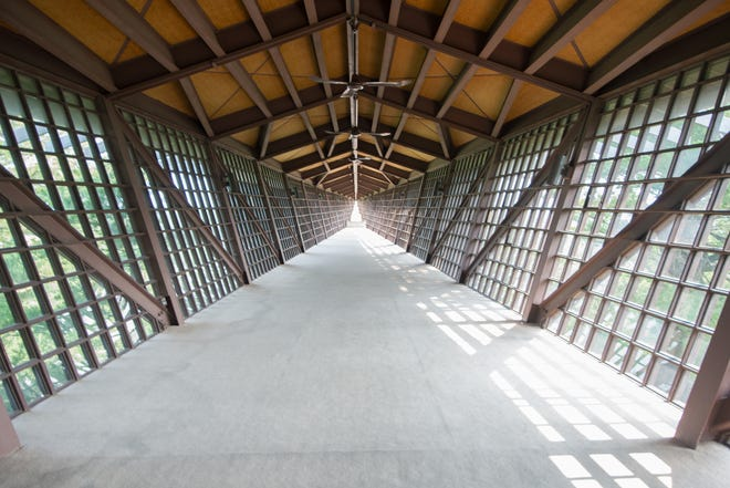 The Infinity Room at the House on the Rock, which has over 100 feet of unsupported structure extending over the valley.