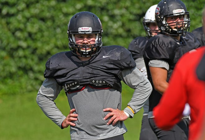 St. Cloud State University senior linebacker Jack Horter is the top returning tackler for the Huskies this fall. Horter and the Huskies open their season at 6 p.m. Thursday against the University of Mary at Husky Stadium.