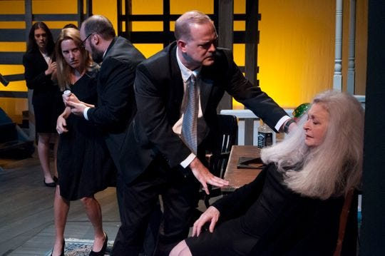 """Talk about distress in the Midwest. In the middle-of-nowhere Oklahoma, a family led by a cursing, pill-popping matron has a dysfunctional family reunion when dad dies all of a sudden when Theatre Tallahassee presents the dark, Pulitzer Prize-winning comedy-drama """"August: Osage County"""" running through Sept. 9 at Theatre Tallahassee, near the intersection of Thomasville and Betton roads. Tickets are $22 for adults; $17 for seniors and $15 for students. The play contains profanity and adult themes. Visit tallahasseetheater.org."""
