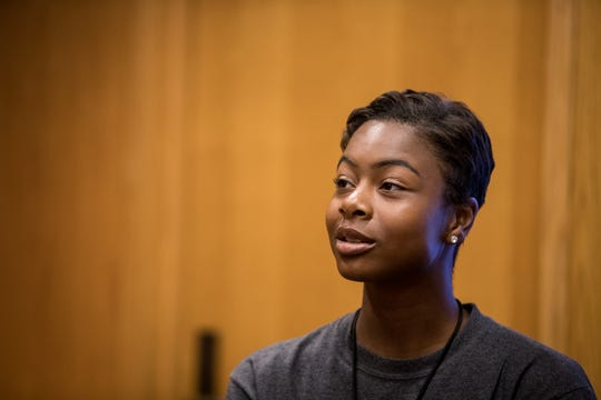 Cori Bostic during news conference at Florida A&M University