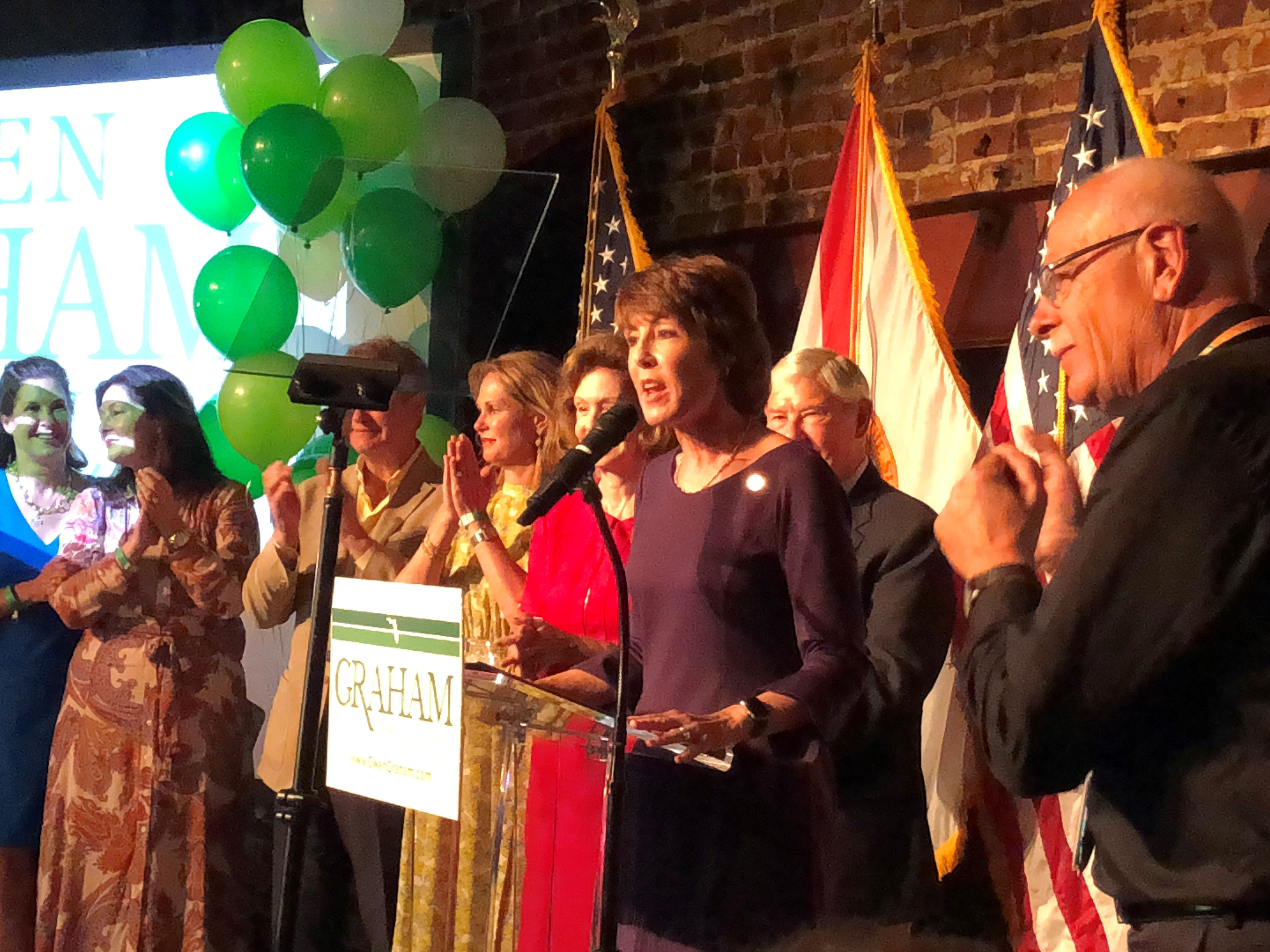 Gwen Graham expresses her support for Andrew Gillum, calling him a friend and encouraging her supporters to back Gillum in the 2018 gubernatorial election in November.