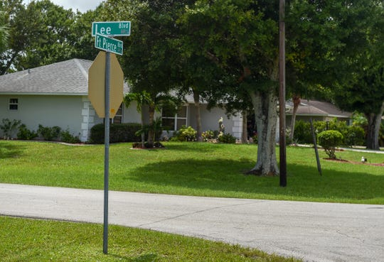 The intersection of Fort Pierce Boulevard and Lee Boulevard is seen Wednesday, Aug. 29, 2018, in the Lakewood Park neighborhood in Fort Pierce. This same intersection, along with much of Lakewood Park, was seriously flooded in the aftermath of Hurricane Irma in 2017.