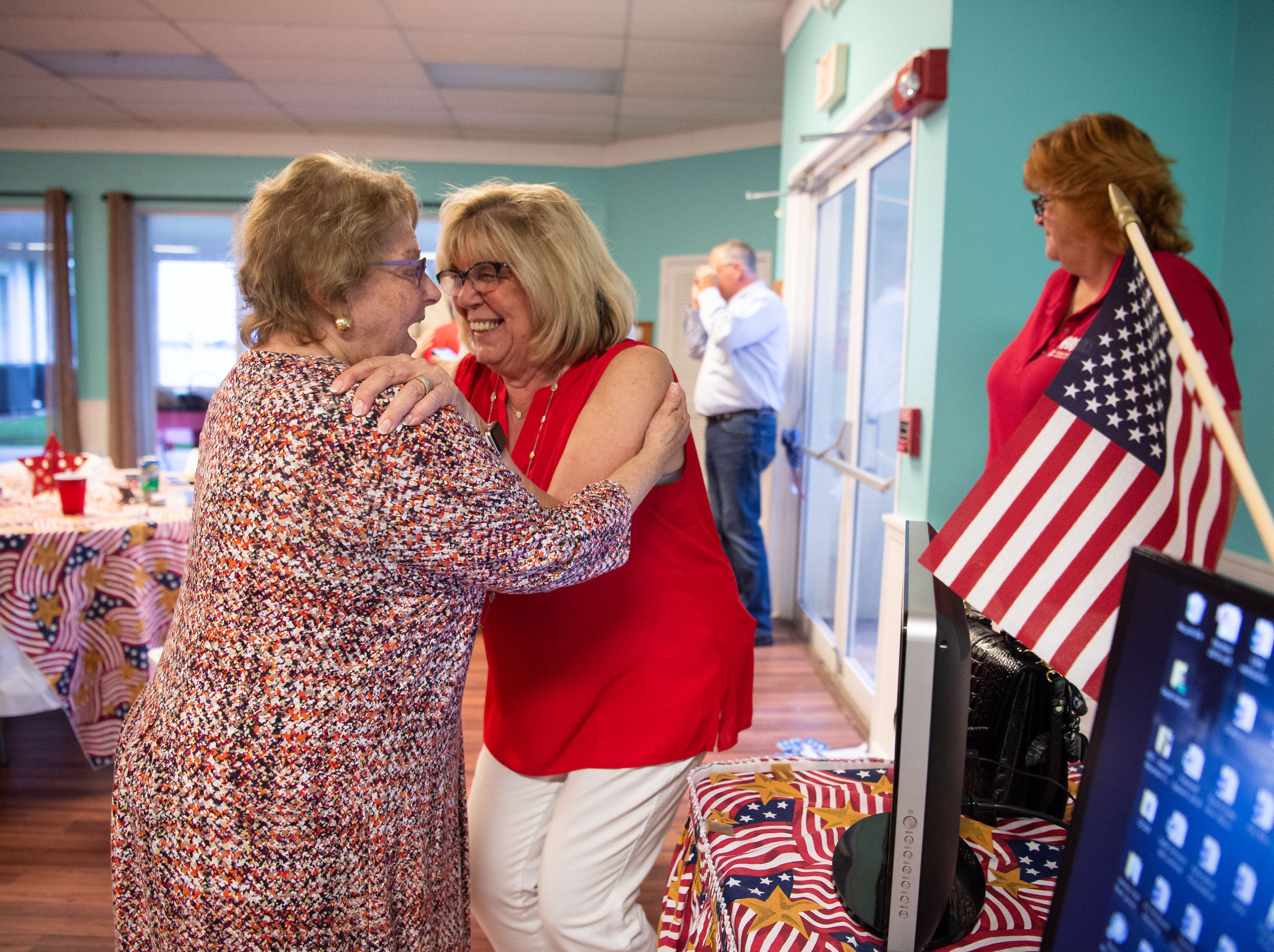 State Rep. Gayle Harrell and Keiser University administrator Belinda Keiser vie for the Republican nomination on Tuesday, Aug. 28, 2018, to run for the Senate Dist. 25 seat being vacated by Sen. Joe Negron. Supporters attend primary elections parties in downtown Stuart for Harrell at Flagler Place, and Keiser at Mulligan's Beach House Bar & Grill.
