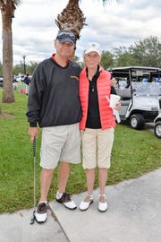 Bob Carey, founder of Sarah's Kitchen, with Linda Horan at the 2017 Be a Hunger Hero Golf Tournament.