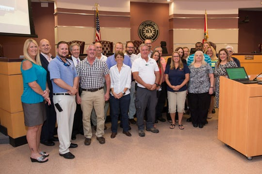 Staff from PSL's Public Works Department were recognized at the Aug. 20 City Council meeting for helping to achieve the department's fourth APWA re-accreditation.