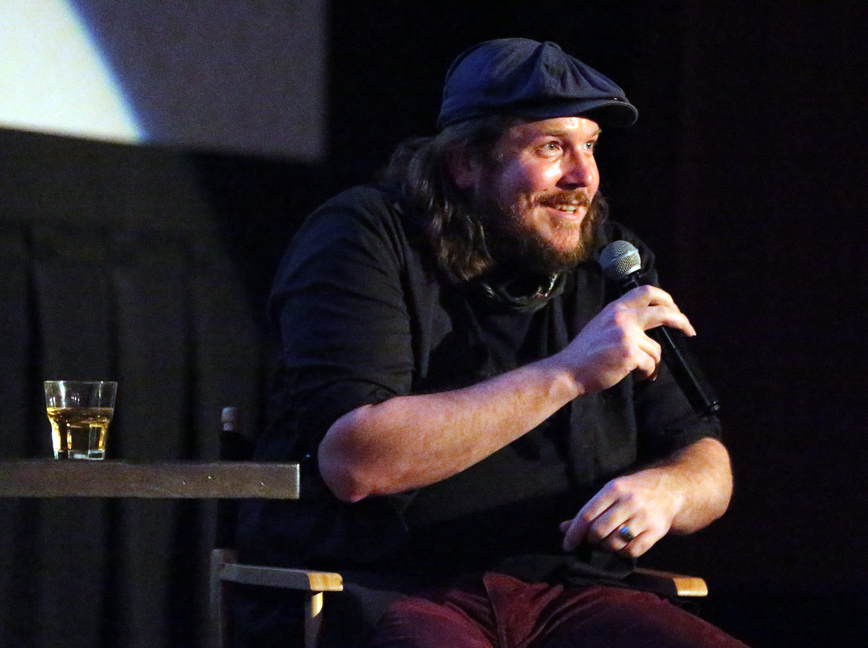 "Musician and first-time actor Ben Dickey talks about playing Texas musician Blaze Foley in the movie ""Blaze"" following a screening of the movie Tuesday night at Alamo Drafthouse Cinema-Montecillo."