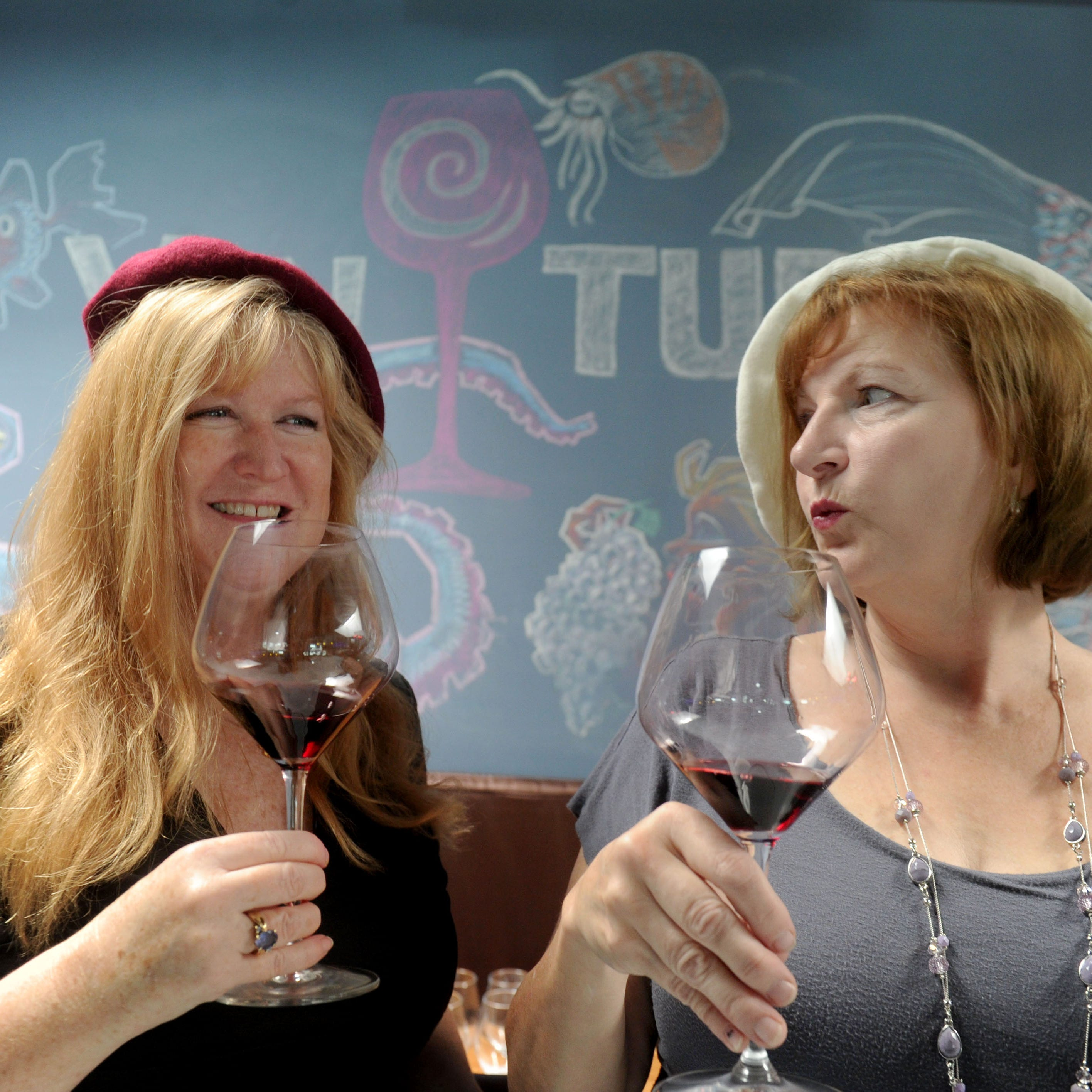 Kristen Shubert, left, a sommelier and owner of VinTura Tasting Room & Wine Rack in downtown Ventura, and Lisa Stoll, a sommelier and owner of the Camarillo-based tour company Explore Wines, will represent the U.S. during the World Wine Tasting Competition from Oct. 12-13 in France. Shubert previously competed as a member of Team USA in 2016.