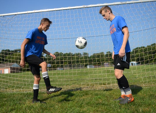 Millville High School soccer players Matt Price and Billy Muhlbaier look to lead the Bolts to a winning season.