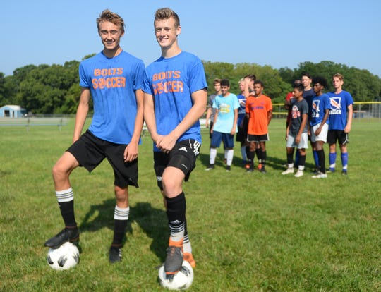 Millville High School soccer players Billy Muhlbaier and Matt Price look to lead the Bolts to a winning season.