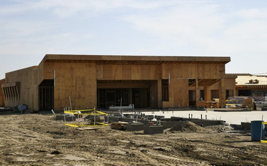 Construction is ongoing at Visalia Unified's newest elementary school located on the corner of Denton Street and Ferguson Avenue on Tuesday, August 28, 2018.