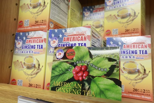 Ginseng products display on a showcase Tuesday, August 7, 2018, at Hsu's Ginseng Enterprises in Wausau, Wis. T'xer Zhon Kha/USA TODAY NETWORK-Wisconsin