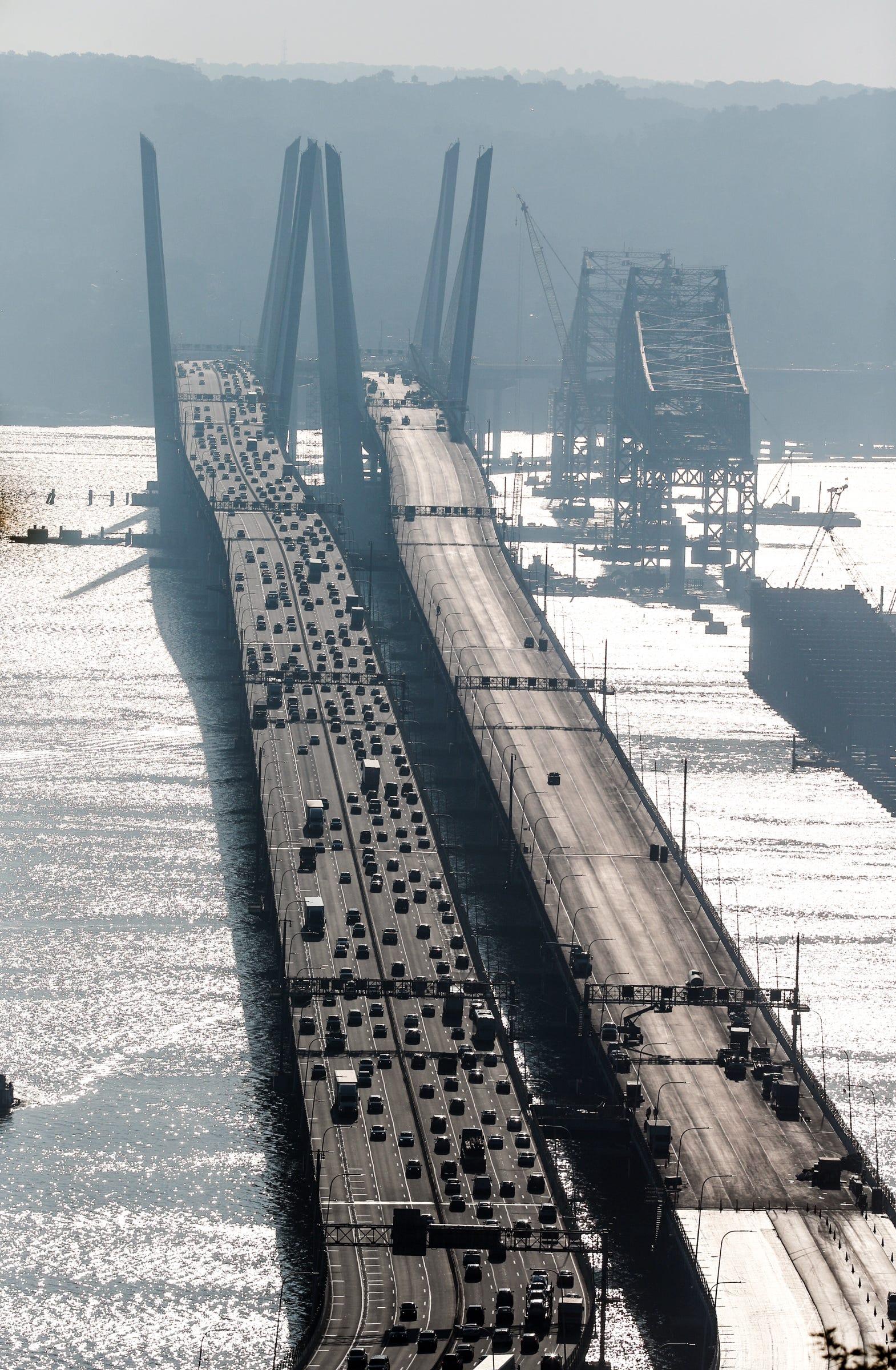 Morning traffic on the Gov. Mario M. Cuomo Bridge on Wednesday, August 29, 2018.
