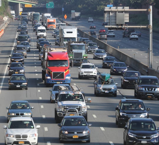 Morning traffic on the the New York State Thruway in Nyack on Wednesday, August 29, 2018.