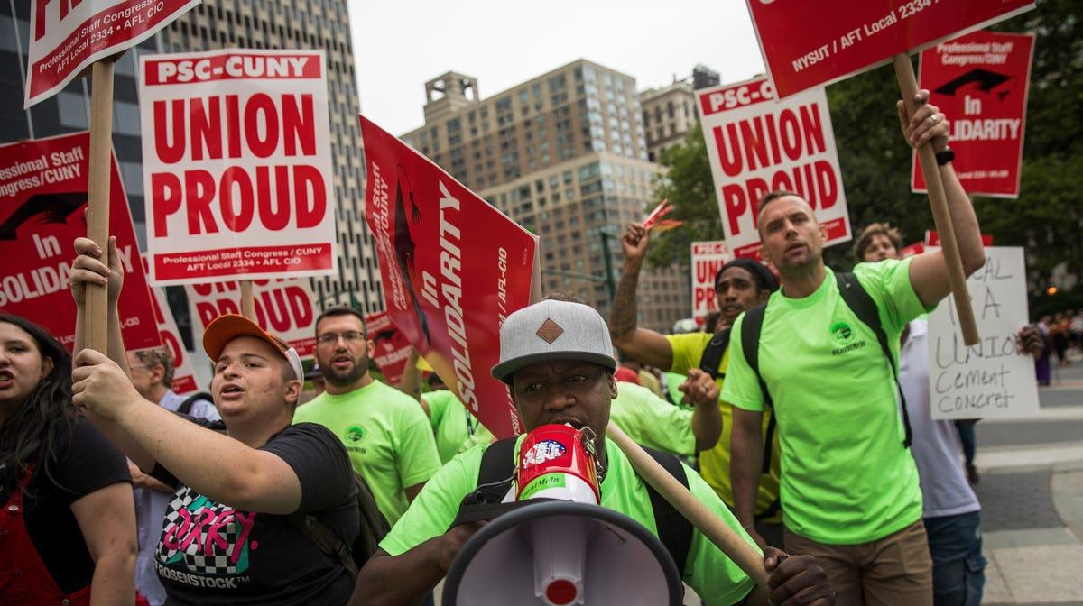 Unions face an uncertain future, even in labor-friendly New York
