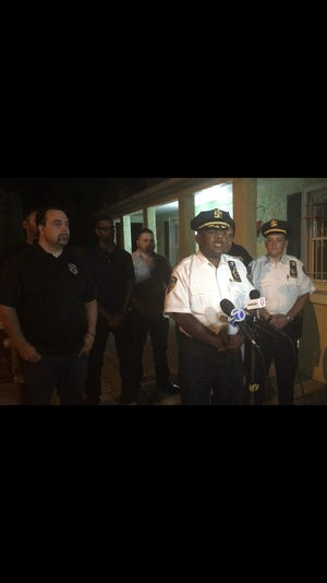 Mount Vernon Police Chief Richton Ziadie discusses two shooting incidents in the city Tuesday.