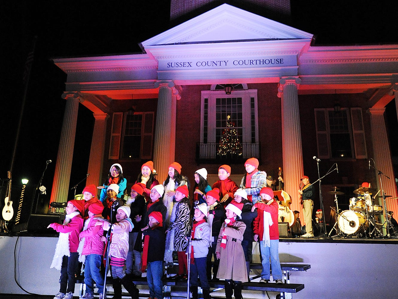 Sing along at Caroling on the Square in Wilmington or on the Circle in Georgetown, seen here.  www.facebook.com/events/151533175469787