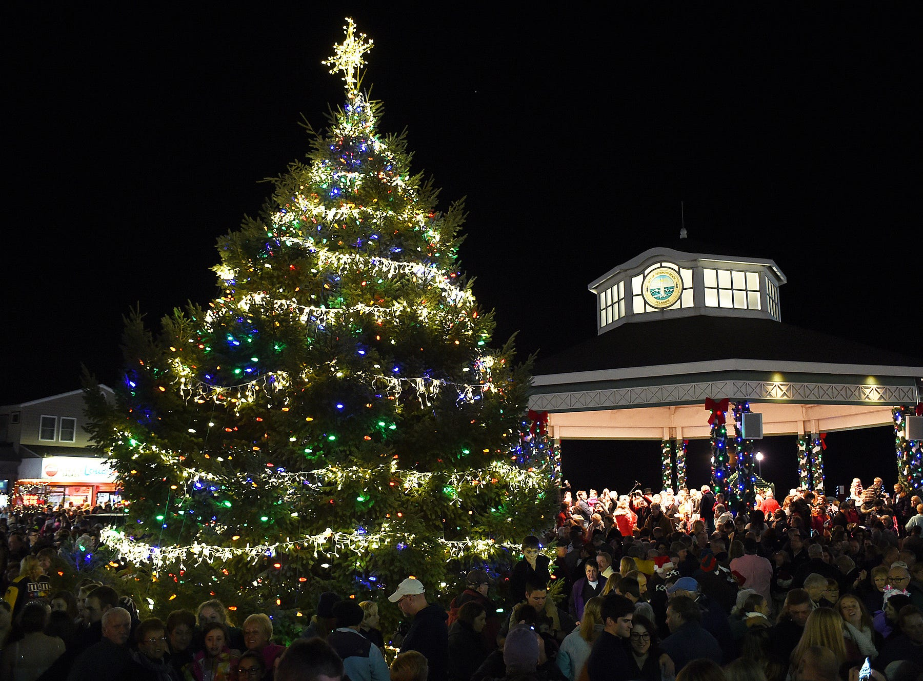 Attend the annual Rehoboth Beach Christmas tree lighting and sing-along at the bandstand. www.rehobothbandstand.com/event/rehoboth-beach-holiday-tree-lighting-4