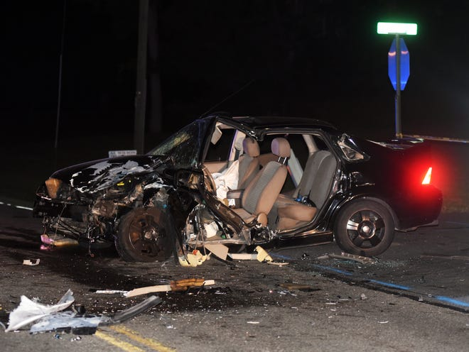 A black Ford Focus was part of a Tuesday crash with a Ford Escape on Military Road that sent two drivers to Genesis Hospital.