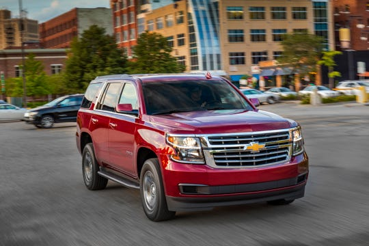 This undated photo provided by General Motors shows the 2018 Chevrolet Tahoe, which can be had in the Fort Lauderdale area during Labor Day sales with a discount of $12,500. (Courtesy of General Motors via AP)