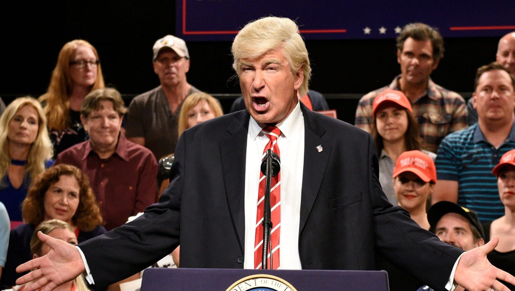 "Alec Baldwin as President Trump on ""SNL"""