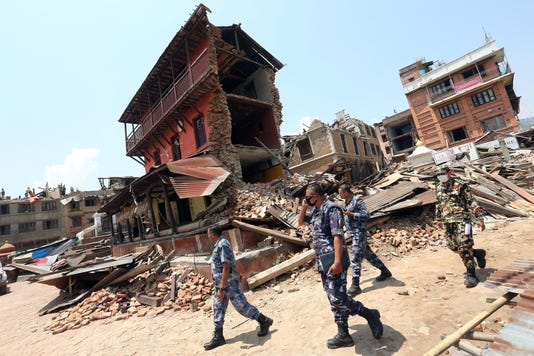 Epa Nepal Earthquake Aftermath Dis Disasters General Npl Ka