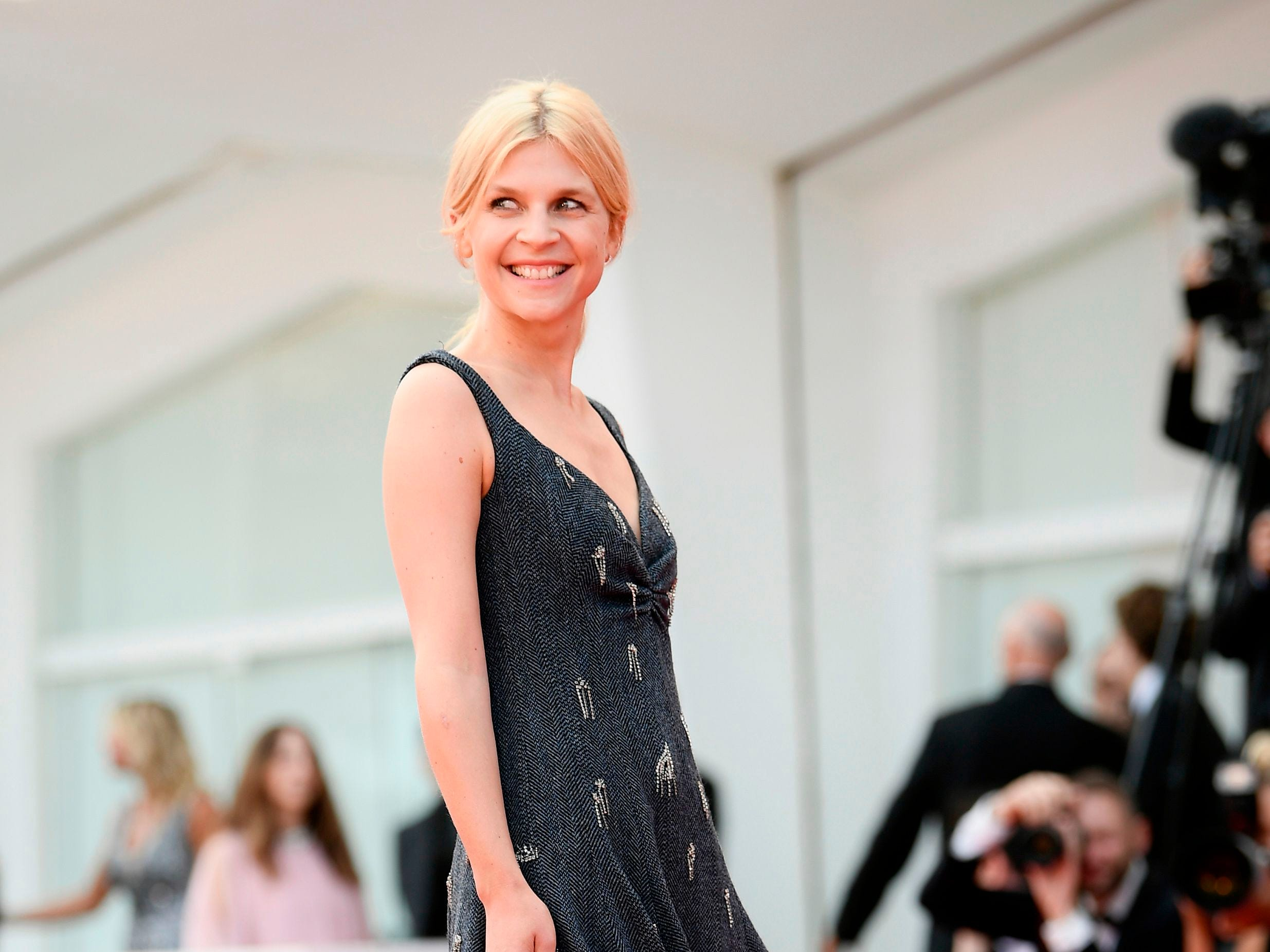 """Actress Clemence Poesy arrives for the opening ceremony and the premiere of the film """"First Man"""", presented in competition at the 75th Venice Film Festival on August 29, 2018 at Venice Lido. (Photo by Filippo MONTEFORTE / AFP)FILIPPO MONTEFORTE/AFP/Getty Images ORIG FILE ID: AFP_18P0L0"""