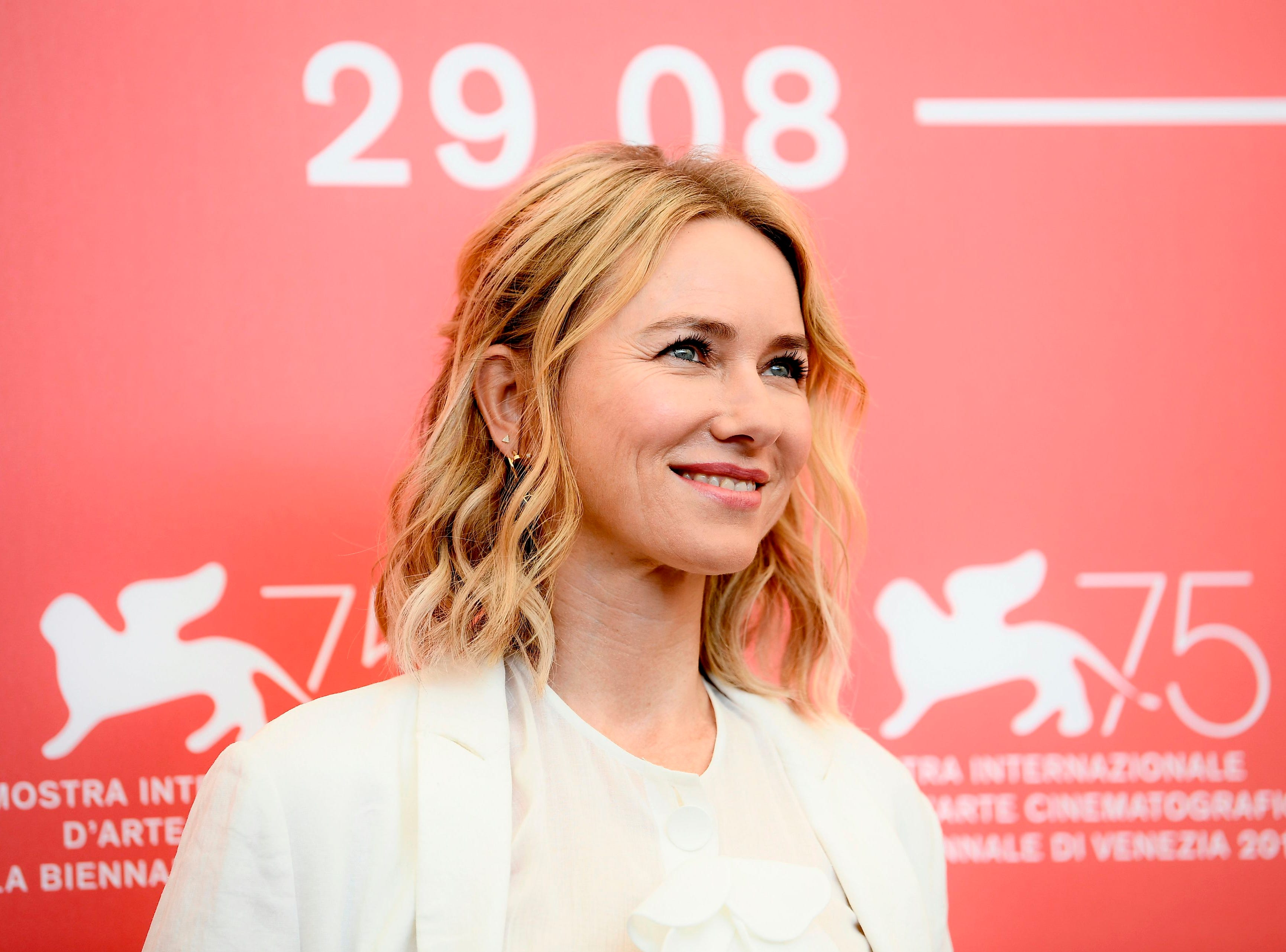 Member of the Venezia 75 competition jury, English actress Naomi Watts attends a photocall of the jury of the 75th Venice Film Festival on August 29, 2018 at Venice Lido. (Photo by Filippo MONTEFORTE / AFP)FILIPPO MONTEFORTE/AFP/Getty Images ORIG FILE ID: AFP_18O8H1