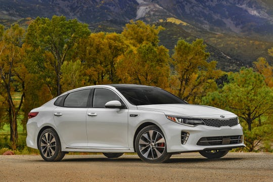 This undated photo provided by Kia Motors shows the 2018 Kia Optima. People shopping one in the Los Angeles area this Labor Day weekend should find savings of about $7,000, depending on trim level. (Courtesy of Kia Motors via AP)