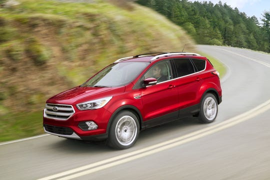 This undated photo provided by Ford Motor Co. shows the 2018 Ford Escape. In Houston, shoppers will find Labor Day discounts in the $9,400 range, depending on trim level. (Courtesy of Ford Motor Co. via AP)